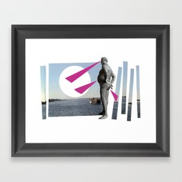 watching the hole in the horizon Framed Art Print