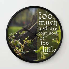 Convinced of Too Little Wall Clock