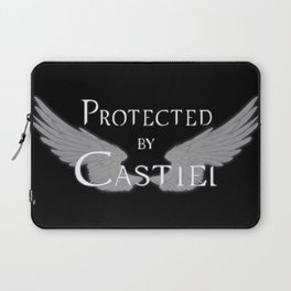Protected by Castiel White Wings Laptop Sleeve