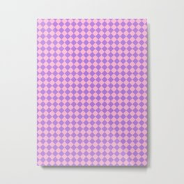 Cotton Candy Pink and Lavender Violet Diamonds Metal Print