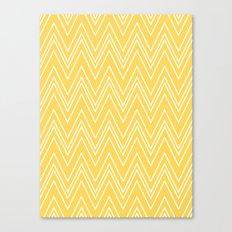 Yellow Skinny Chevron Canvas Print