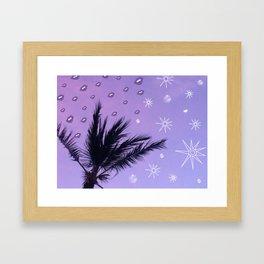 Stars, Moons, & Skeyes Framed Art Print