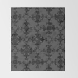Skeleton cross. Gothic Vintage pattern. Throw Blanket