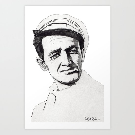 Woody Guthrie Art Print