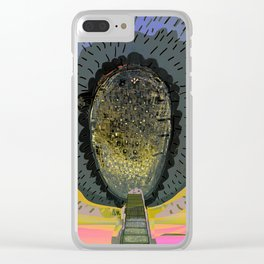Tree Cactus in Bloom at Dawn Clear iPhone Case