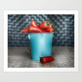 I Want Chilli Peppers Art Print