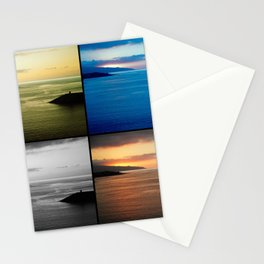 Quadriptych seascape at sunset Stationery Cards