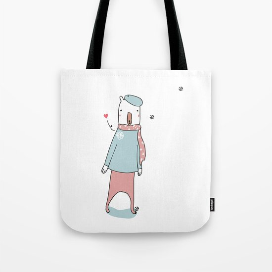 Cold feet, warm heart. Tote Bag