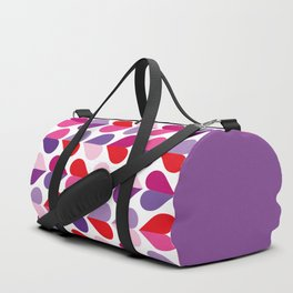 Love and Kisses in Ultra Violet Duffle Bag