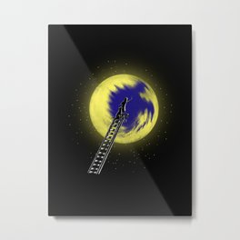 I like it when it is blue Metal Print