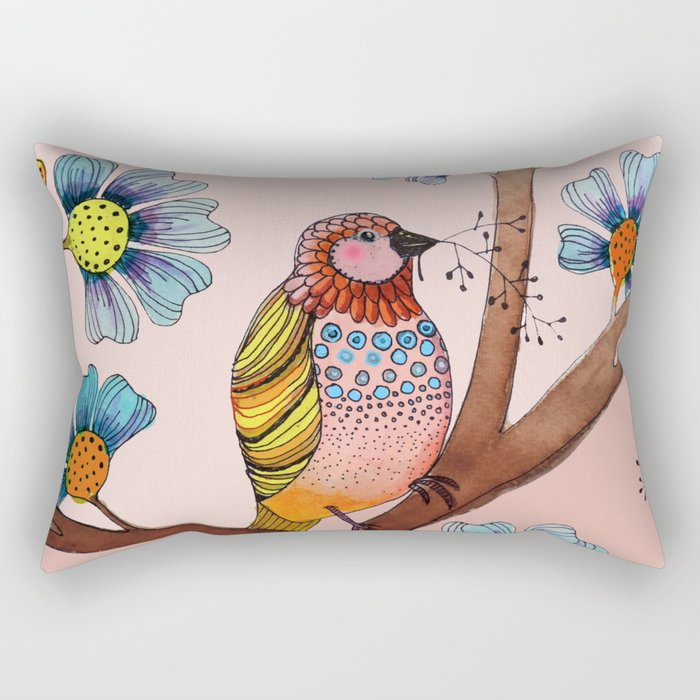 melodie in blush Rectangular Pillow