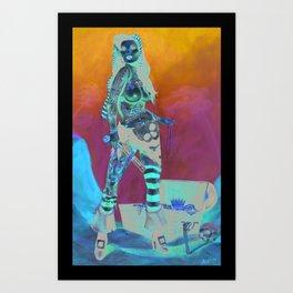 Merciless Tattooed Pirate queen  Art Print