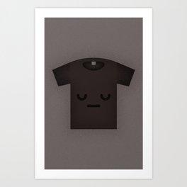 Sad Shirt Art Print