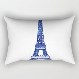 Eiffel Tower Purple Rectangular Pillow