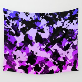 Gradient pink and purple camo. Wall Tapestry