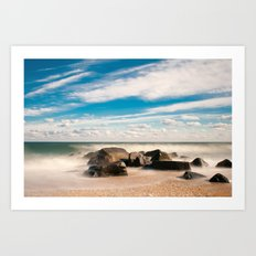 Sea Girt Beach Art Print
