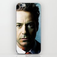 robert downey jr iPhone & iPod Skins featuring Robert Downey Jr 001 by TheTreasure