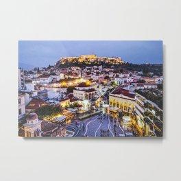 Athens Cityscape Fine Art Print Metal Print