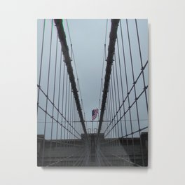 Brooklyn Bridge Suspension Cables and Columns, New York, USA Metal Print