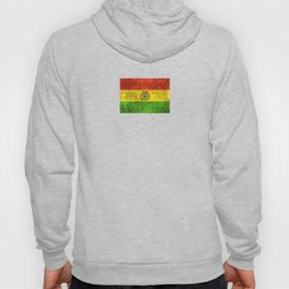 Vintage Aged and Scratched Bolivian Flag Hoody
