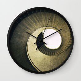 Spiral stairs in warm tones Wall Clock