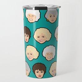 Golden Girls Green Pop Art Travel Mug