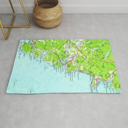 Vintage Map of York Maine (1956) Rug