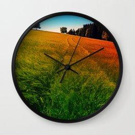 Waving fields of spring Wall Clock