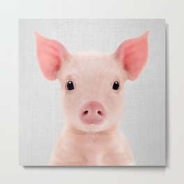 Piglet - Colorful Metal Print