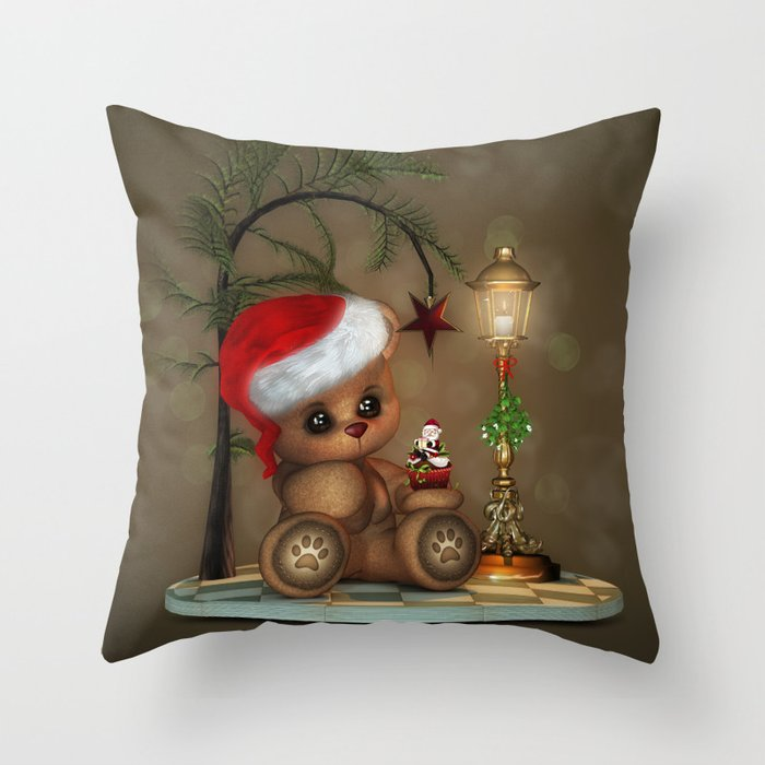 Henry the Bear Throw Pillow