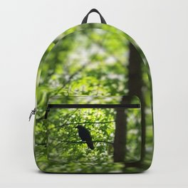 Black Bird Summer Green Tree Backpack