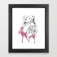 Half pet Framed Art Print