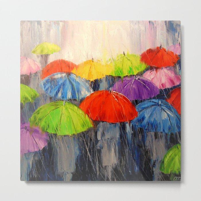 Morning rain Metal Print