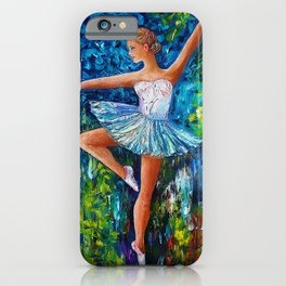 Dance In The Rain Of Color iPhone Case