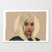 mother of dragons Canvas Prints featuring Mother of Dragons by Giuseppe