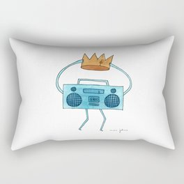 boombox holding a paper crown Rectangular Pillow