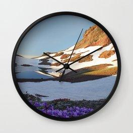 Alpine Wildflowers Wall Clock