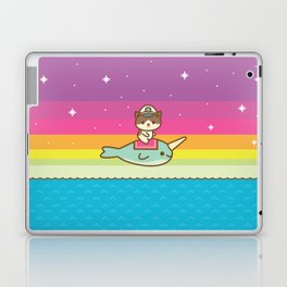 Admiral Whiskers Magical Narwhal Ride Laptop & iPad Skin