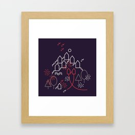 The Other Two And The Town Framed Art Print