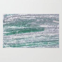 Slate gray green nebulous watercolor paper Rug