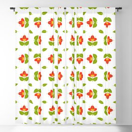 Simply Red Flowers Blackout Curtain