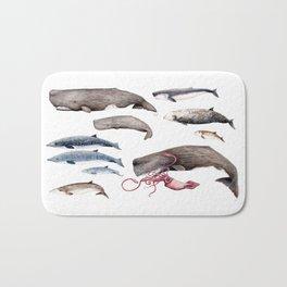 Deep sea whales Bath Mat
