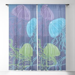 Ethereal Jellies Sheer Curtain