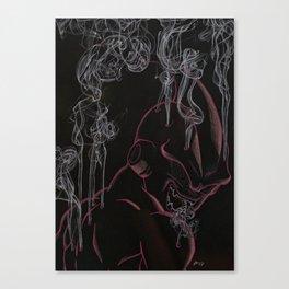 Steaming Kid Buu Canvas Print