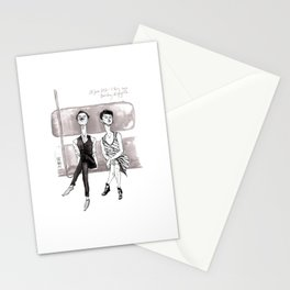 F-Train Snobs by Kat Mills Stationery Cards