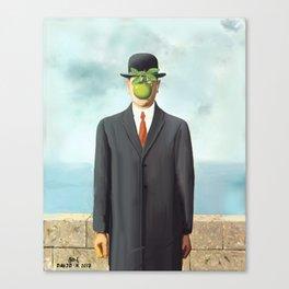 The Apple man Canvas Print