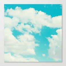 Perfect blue sky. Canvas Print