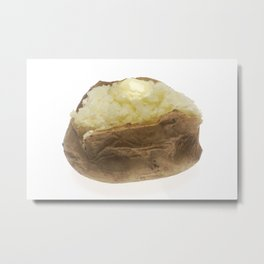 Baked Potato Metal Print