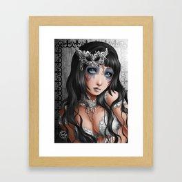 Melancoly thought - Pensée mélancolique Framed Art Print