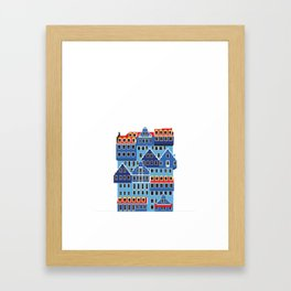 Blue Hotel Framed Art Print